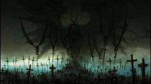 Cross Demon Graveyard 2115x1215 Wallpaper