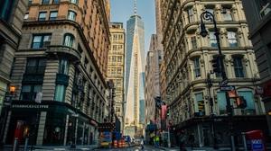 Building Manhattan New York Street 5498x3615 Wallpaper