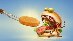 Burger Food 3840x2160 Wallpaper