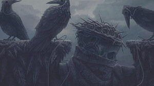 Digital Art Fantasy Art Alexey Egorov Crown Of Thorns Crow Music 1473x925 Wallpaper