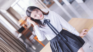 Albums Women Asian School Uniform Depth Of Field 6000x3376 Wallpaper