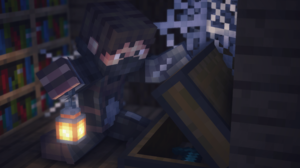 Chest Lantern Minecraft 3840x2160 Wallpaper