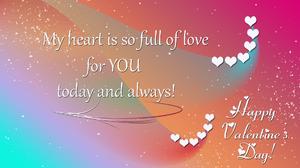 Artistic Gradient Heart Love Typography Valentine 039 S Day 1920x1080 Wallpaper