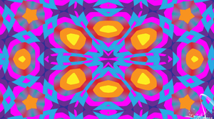 Artistic Colorful Colors Digital Art Kaleidoscope Pattern 1920x1080 Wallpaper