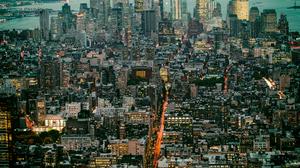 Aerial Building Cityscape Manhattan New York Skyscraper Usa 3600x2385 Wallpaper