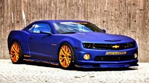 Blue Car Car Chevrolet Chevrolet Camaro Muscle Car Vehicle 2560x1600 wallpaper