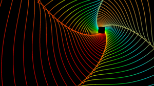 Abstract Colors Digital Art Fractal Lines Spiral 7680x4320 Wallpaper