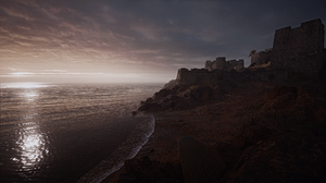 Battlefield 1 Fortress Scenery Sea Sunset 2560x1440 Wallpaper