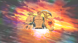 Escanor Seven Deadly Sins Nanatsu No Taizai Anime Boys Fan Art Picture In Picture Meliodas Sun Rays  3840x2160 Wallpaper