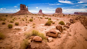 Desert Landscape Monument Valley Nature Rock Usa 2048x1374 Wallpaper