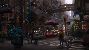 Cyberpunk Cityscape 1920x1080 Wallpaper