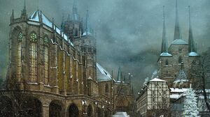 Architecture Building Old Building Cathedral Ronny Welscher Church Photo Manipulation Snow Winter To 2048x1560 Wallpaper