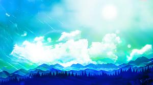Mountain Forest Scenery Cloud 1920x1080 Wallpaper
