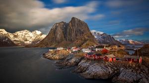 House Norway Reine Sea 2048x1365 Wallpaper