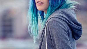 Chloe Norgaard Model Women Long Hair Multicolored Hair Outdoors Blue Eyes Danish 853x1280 Wallpaper