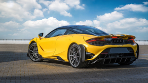 McLaren 765LT McLaren Supercars Sports Car Car Vehicle Yellow Cars Clouds 2560x1440 Wallpaper