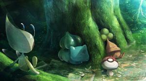 Bonsly Pokemon Bulbasaur Pokemon Celebi Pokemon Foongus Pokemon 3506x1855 Wallpaper