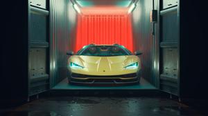 Car Lamborghini Lamborghini Centenario Sport Car Supercar Yellow Car 3840x2160 Wallpaper