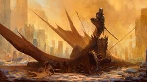Armor Dragon Knight 2100x1080 Wallpaper