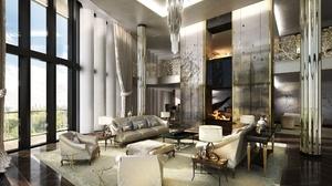 Fireplace Furniture Living Room Room 2560x1440 Wallpaper