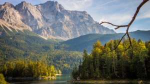 Nature Landscape Mountains Trees Forest River Water Clouds Sky Alps Germany 1920x1080 Wallpaper