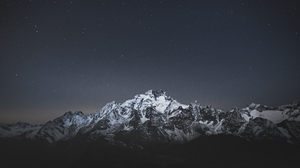 Landscape Mountains Nature Night Stars Snow Caps Italy 4702x3135 Wallpaper