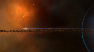 Planet Space Spaceship 3765x1592 Wallpaper