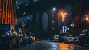 Car Night City Street USA New York City Manhattan Bridge 1920x1080 Wallpaper
