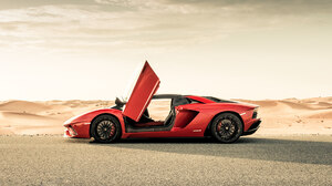 Car Lamborghini Lamborghini Aventador S Red Car Sport Car Supercar 1920x1080 Wallpaper