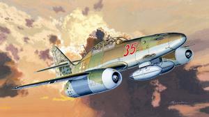 Messerschmitt Me 262 Aircraft Military Aircraft World War Ii Luftwaffe Artwork Vehicle Military Mili 2560x1440 Wallpaper