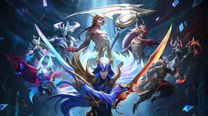 Yone League Of Legends Kayn League Of Legends Kayn Dawnbringer Nightbringer League Of Legends Riot G 7680x4320 Wallpaper
