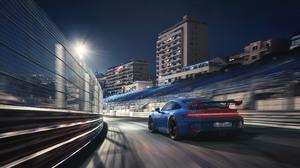Blue Car Car Porsche Porsche 911 Porsche 911 Gt3 Sport Car 3840x2160 Wallpaper