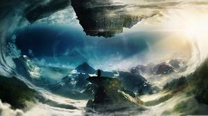 Fantasy Landscape Mountain 3840x2160 wallpaper