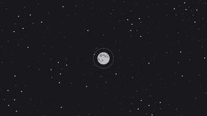 Stars Moon Cosmos 1920x1080 Wallpaper