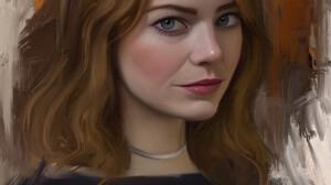 Stam Quito Digital Art Artwork Drawing Fan Art Digital Painting Portrait Portrait Display Emma Stone 2550x3300 Wallpaper