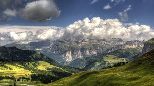 Mountain Cloud Wood Forest Hill Alps Italy 3600x2400 Wallpaper