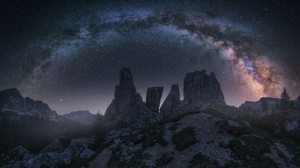 Nature Mountain Sky Stars Milky Way 1920x1181 Wallpaper
