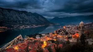 City Montenegro Mountain Lake Cloud Dusk Light 2048x1367 Wallpaper