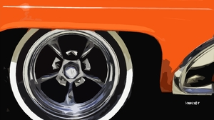 Artistic Artwork Car Digital Art Retro Wheel Orange Color 3097x2130 Wallpaper