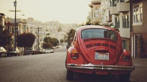 Beetle Red Vintage Volkswagen 2560x1600 Wallpaper