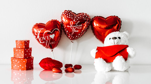 Balloon Gift Heart Love Teddy Bear Valentine 039 S Day 6000x4000 Wallpaper