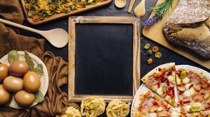 Egg Pizza Pasta Bread 6000x4000 wallpaper