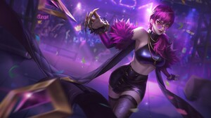 Evelynn League Of Legends K Da League Of Legends Purple Hair 1920x1219 Wallpaper