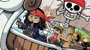 Humor Jack Sparrow One Piece Pirates Of The Caribbean Monkey D Luffy Nami Sanji Roronoa Zoro Ussop 1920x1200 wallpaper