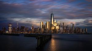 Building City Hoboken New Jersey Skyscraper Usa 3000x1688 Wallpaper