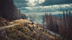 Nature Trees Path Railway Train 1920x1280 Wallpaper