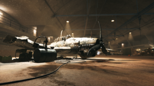 Airplane Battlefield V Hangar Wreck 2560x1440 Wallpaper