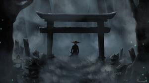 Video Game Art Ghost Of Tsushima Torii Jin Sakai Momo 1920x1080 wallpaper