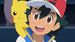 Ash Ketchum Pikachu Boy Black Hair Brown Eyes Smile Cap 1920x1080 wallpaper