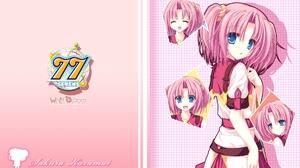 Sevens And Two Stars Meet Again Kazamai Sakura Anime Series Anime Girls Sidetails Pink Hair Short Ha 1920x1200 Wallpaper